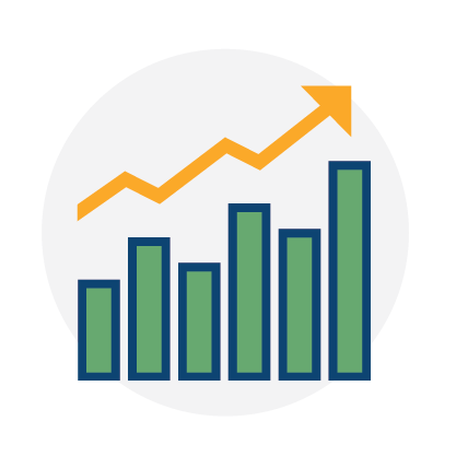 increase bottom line, graph with numbers going up